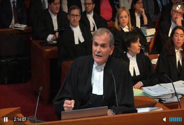 Paul Cavalluzzo appearing at the Supreme Court of Canada