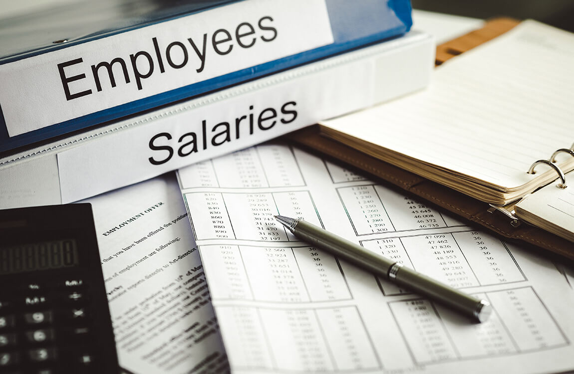 Accounting books for employee salaries