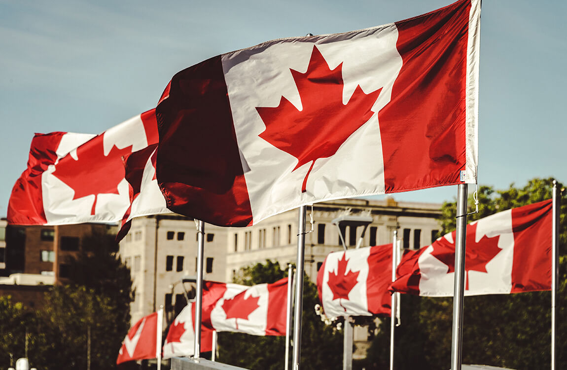 Canadian-flags