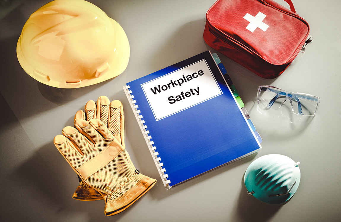Workplace Safety Handbook Manual and Occupational Equipment for Work Training